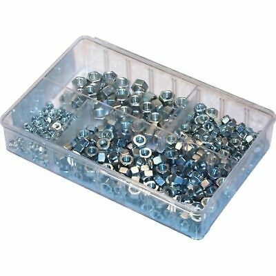 "UNF Steel Nuts, Assorted Box Sizes: 3/16-3/8"" UNF (300 pieces)"