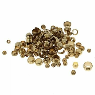 Metric Brass Stepped Olives, Sizes: 4-12mm, Assorted Pack of 150