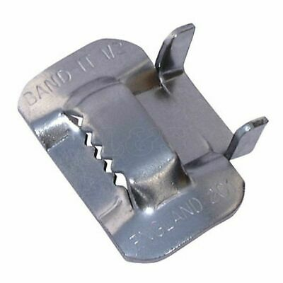 Signfix banding 19mm stainless steel clips.