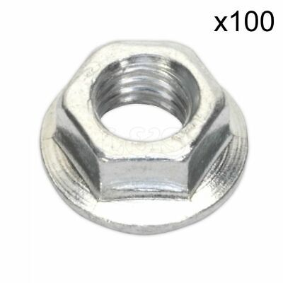 Metric Serrated Flange Nuts, Zinc Plated, Size: M6. Pack of 100