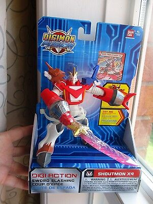 NEW in Box DIGIMON FUSION :SHOUTMON X4 Sword Slashing TOUCH DEVICE ENABLED
