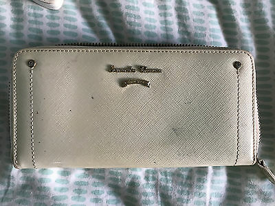 Off-White Samantha Thavasa Wallet; Zippered Compartment Inside And Outside