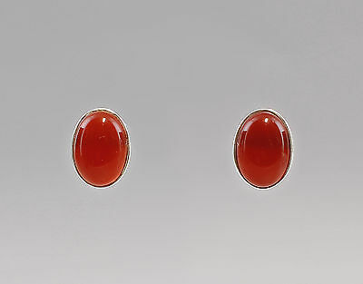 925er Silver fashionable carnelian earrings 9907214