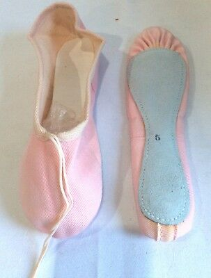 Ladies Girls Pink  Full Sole Ballet Shoes Pumps Childrens & Adults sizes - Dance