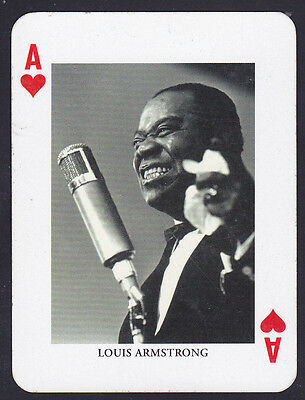 Louis Armstrong,Jazz Legends Single playing card