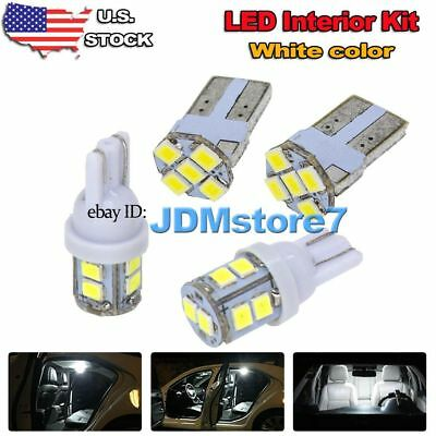 4x White LED Dome + Cargo lights interior package kit for 2010-2017 Chevy Camaro