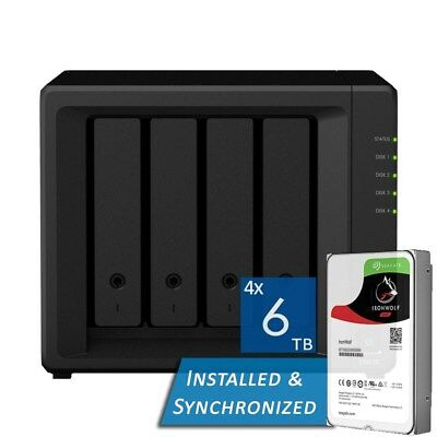 Synology DiskStation DS418 4 Bays NAS + 24TB 4x Seagate 6TB ST6000VN0033