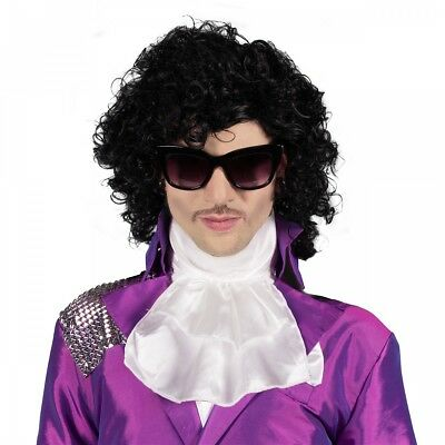Prince Costume Wig Adult 80s Rocker Purple Rain Pop Star Halloween Fancy Dress
