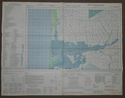 5938 ii - RARE CONFIDENTIAL 1965 MAP - Index Points - SONG ONG DOC - Thai Gulf