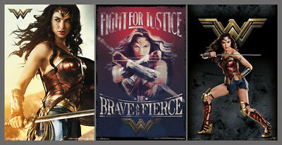 WONDER WOMAN (Gal Gadot) Official Movie 3-Poster Combo Set POSTERS