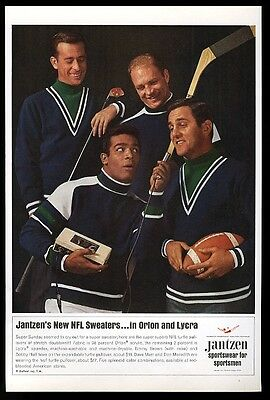 1966 Jantzen sweater Bobby Hull Don Meredith Tommy Brown photo vintage print ad