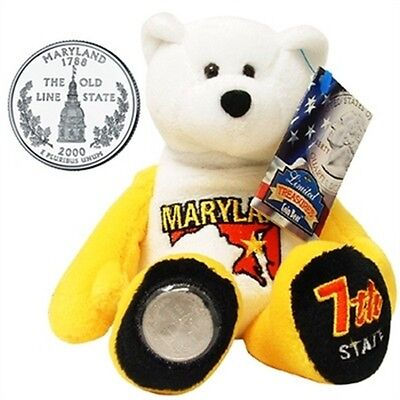 Limited Treasures Coin Bear Maryland 7th State New with Tags NWT