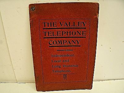 Vintage 1907 OHIO The Valley Telephone Directory LONG & SHORT Directory