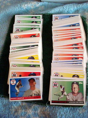 2007 Topps Mickey Mantle Home Run History Cards New York Yankees $1.00 Each