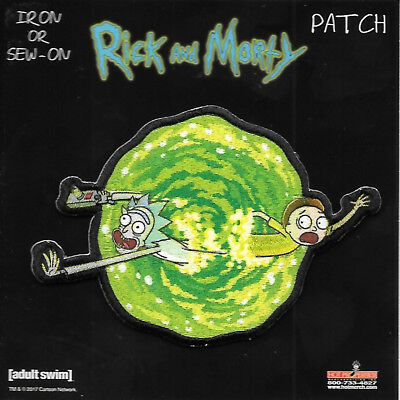 Rick and Morty Animated TV Series Portal Jumping Embroidered Patch Version One