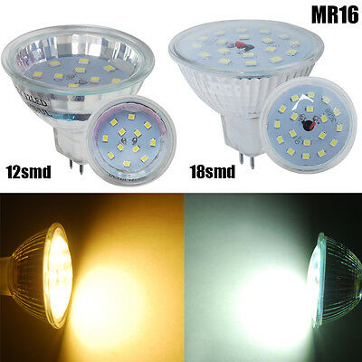 4/10Pack MR16 3W 5W LED Light Bulbs Globe Spotlight SMD Cool Warm White Lamp 12V