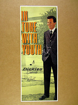 1961 Pat Boone photo Dickies Casuals men's clothing vintage print Ad