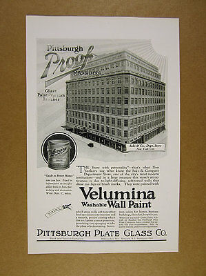 1925 Saks & Co Department Store new york photo Velumina Paint vintage print Ad