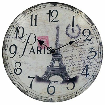 "Silent Wall Clock Count Hippih Round Clocks 12"" Living Room"