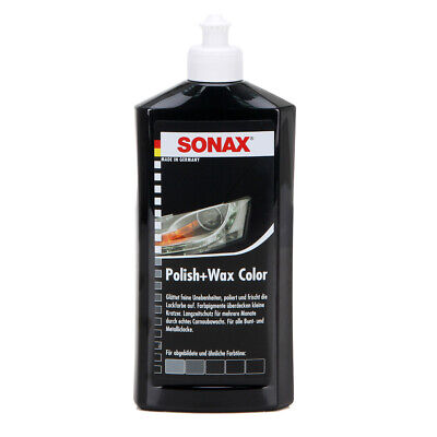 SONAX Politur & Wachsstift POLISH & WAX COLOR NanoPro SCHWARZ 500ML
