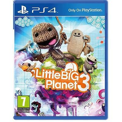 LittleBigPlanet 3 PS4 - 7 Plus Kids PlayStation 4 Little Big Planet NEW SEALED