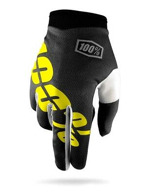 100% I-Track MX Offroad Gloves Black/Yellow