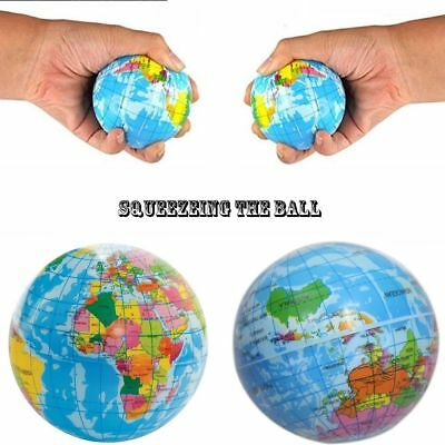 Stress Relief Slow Rising Globe Map Toy Foam Ball Squeeze Globe Kid Learning Toy