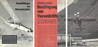 Bauplan + Test RC Motorflugmodell Pilatus PC-6 Turbo Porter - Original von 1968