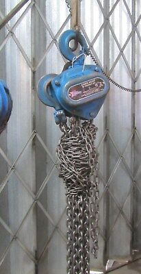 2 TON CHAIN HOIST BLOCK AND TACKLE 6mtr DROP HEAVY DUTY TWO TON REF 6271/2