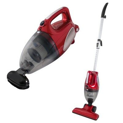 800W Red Bagless Cyclonic 2-In-1 Upright & Handheld Vacuum Cleaner - Hepa Filter