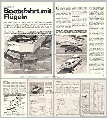 Bauplan Tragflügelboot Supramar / James Bond DISCO VOLANTE - Original von 1973