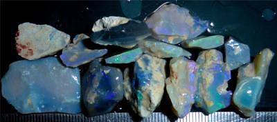 100 Cts #921 Opal Rough And Rough Rubs From Lightning Ridge Australia