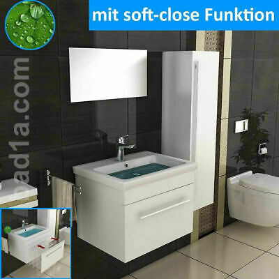 waschbecken g ste wc eckig waschtisch aufsatzbecken badm bel badezimmer set chf. Black Bedroom Furniture Sets. Home Design Ideas