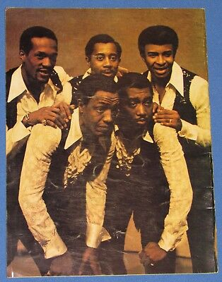 The Temptations 1969 Motown Records Concert Program--Great Pictures!!!!
