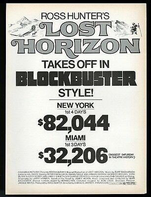 1973 Lost Horizon movie release vintage trade print ad