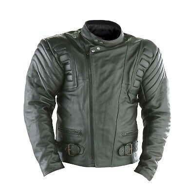 Rayven Stratus Leather Motorcycle Classic Patrol Retro Cruiser Biker Jacket