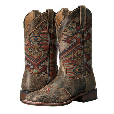 5647 Laredo Women's Brown Scout Western Cowgirl Boot Aztec Design 11 Inch Shaft