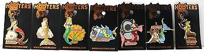 Hooters Restaurant Mermaid Series (Complete Set Of 7) Girl Lapel Hat  Pin Lot