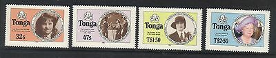 Tonga 1985 Life & Times Queen Mother Perf  Set Mnh Sg 915B-918B