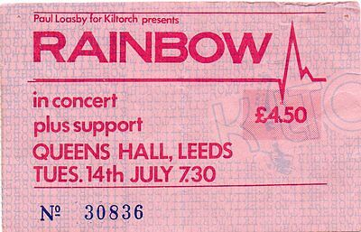 Rainbow Concert Ticket 1981 Original Valuable Dated Vintage Rare Gem 36 Yrs Old