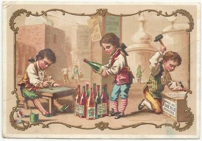1891 French Wine Label Printer Chromo Trade Card