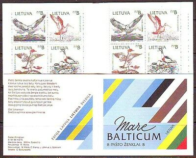 Lithuania 1992. Birds. Booklet. MNH.