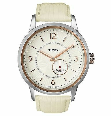 NEW Timex T2N352 Women's Rose Gold Leather Ivory 1-Chronograph Watch T2N352AB