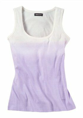 10 Stück FLASHLIGHTS Dip Dye Tank Top 309663 ecru flieder Gr. 34 XS