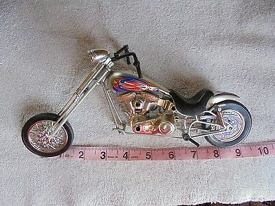 "Model  Motorcycle Orange County Chopper 1995 Red Blue Diecast Plastic 10"" Adult"
