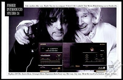 1993 Alice Cooper and his mom mother photo Fisher Studio 24 stereo print ad