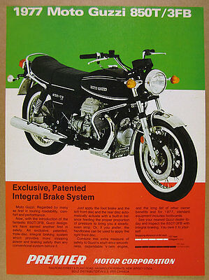 1977 Moto Guzzi 850-T3 FB Motorcycle color photo vintage print Ad