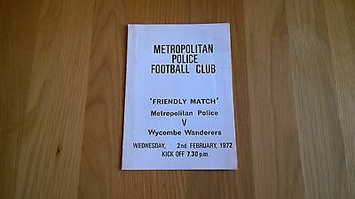 1971-72 Met Police v Wycombe Wanderers - Friendly