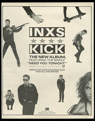 1987 INXS Michael Hutchence photo Need You Tonight song release print ad