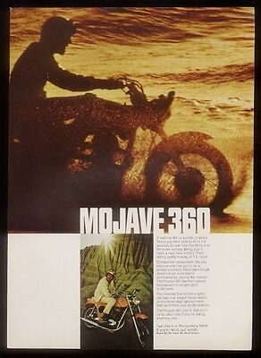 1968 Montgomery Ward Mojave 360 motorcycle 2 color photo ad